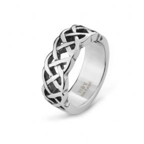 Celtic Knotwork Stainless Steel Ring 9363
